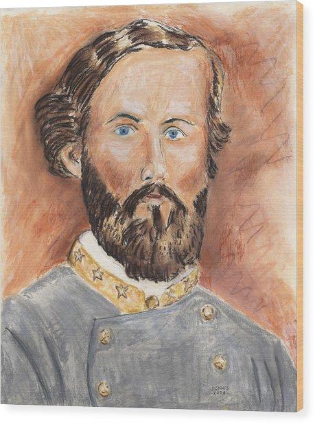 Patton In The Civil War Wood Print by Dennis Larson