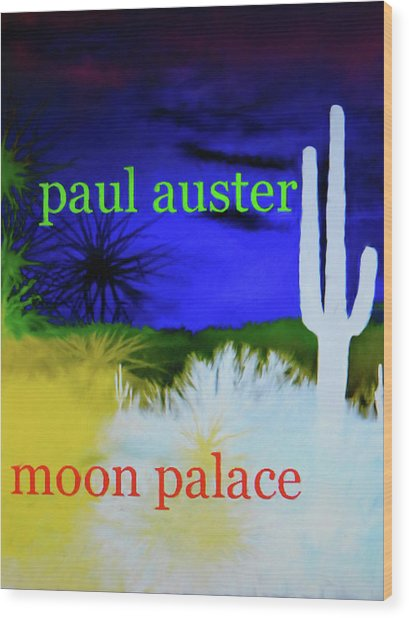 Paul Auster Poster Moon Palace Wood Print