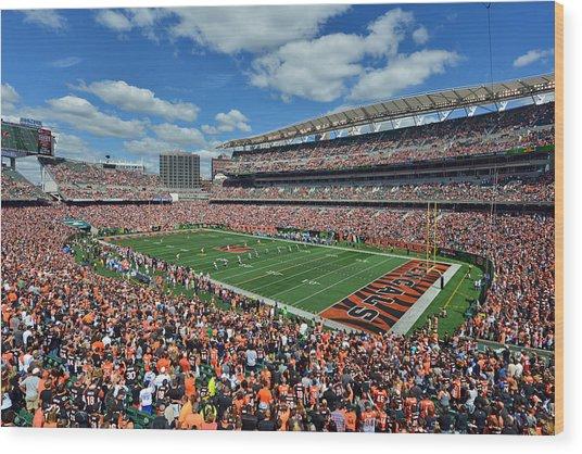 Paul Brown Stadium - Cincinnati Bengals Wood Print