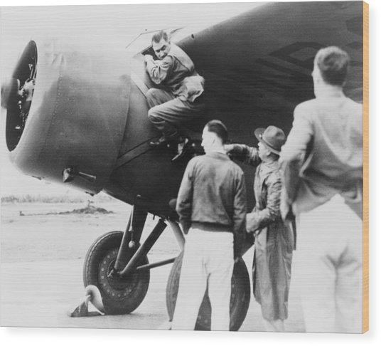 Paul Mantz, Stunt Pilot And Air Racer Wood Print