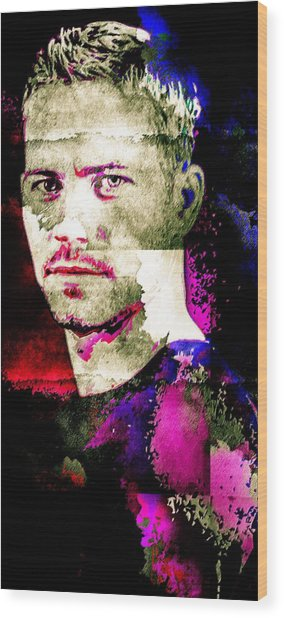 Paul Walker Wood Print