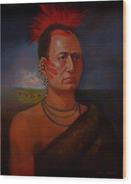 Pawnee Chief Around 1820 Wood Print by Alan Carlson