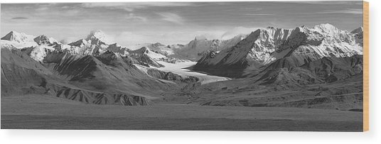 Paxson Glacier Wide Wood Print
