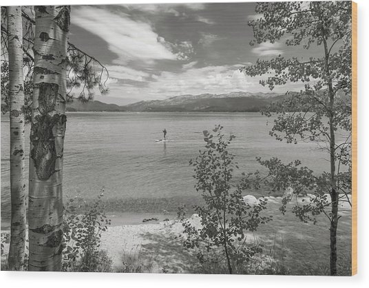Payette Lake Boarder Wood Print