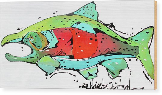 Payne The Salmon Wood Print