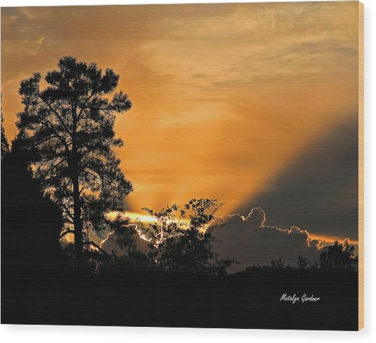 Payson Sunset Wood Print