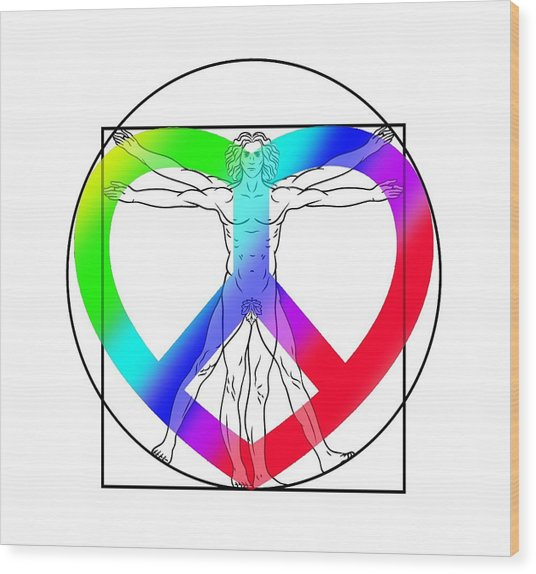 Peace, Love And Hope To Mankind Wood Print