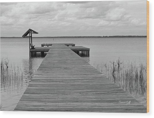 Peace And Serenity II-black And White Wood Print