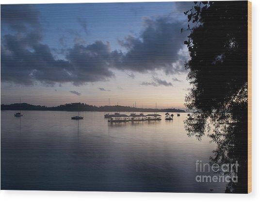 Peace Before Sunrise Wood Print