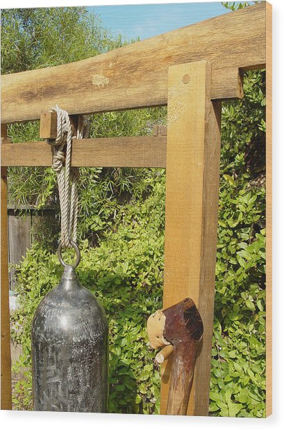 Peace Bell 2nd Image   Sold Wood Print by Steve Mudge