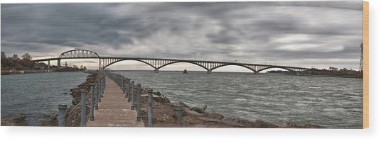 Peace Bridge Wood Print