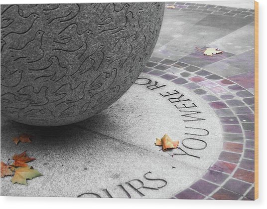 Peace Memorial Wood Print by JAMART Photography