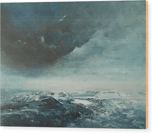 Peace In The Midst Of The Storm Wood Print