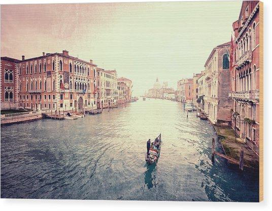 Peace In Venice Wood Print