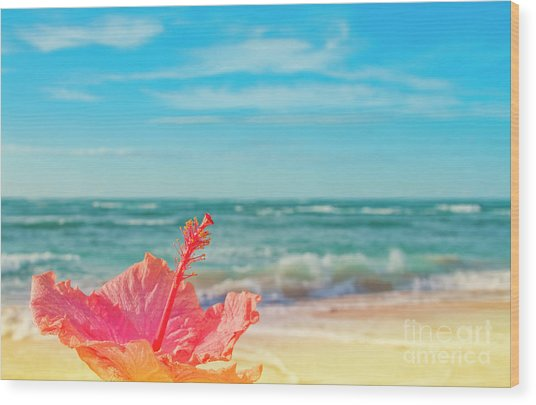 Wood Print featuring the photograph Peace Love And Aloha by Sharon Mau