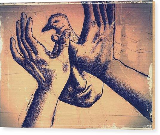Peace Of Mind Wood Print