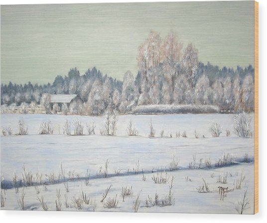 Peace Of The Winter Wood Print by Maren Jeskanen