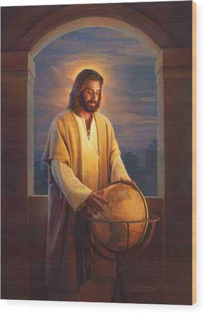 Wood Print featuring the painting Peace On Earth by Greg Olsen