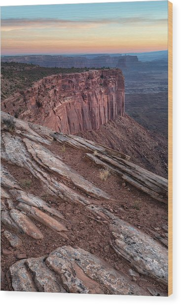 Peaceful Canyon Morning Wood Print