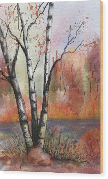 Peaceful River Wood Print