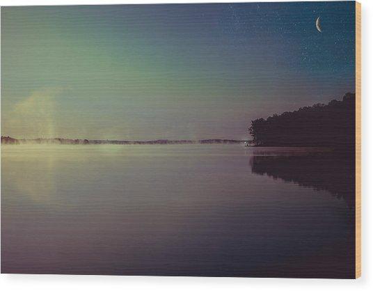 Peaceful Sunrise Wood Print
