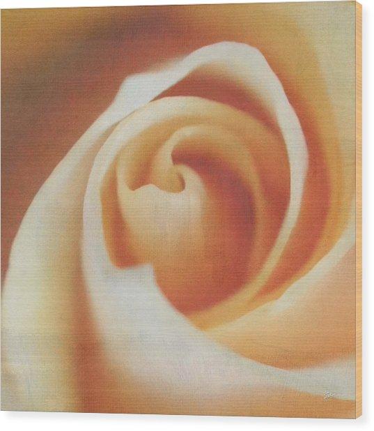 Peach Swirl Squared Wood Print
