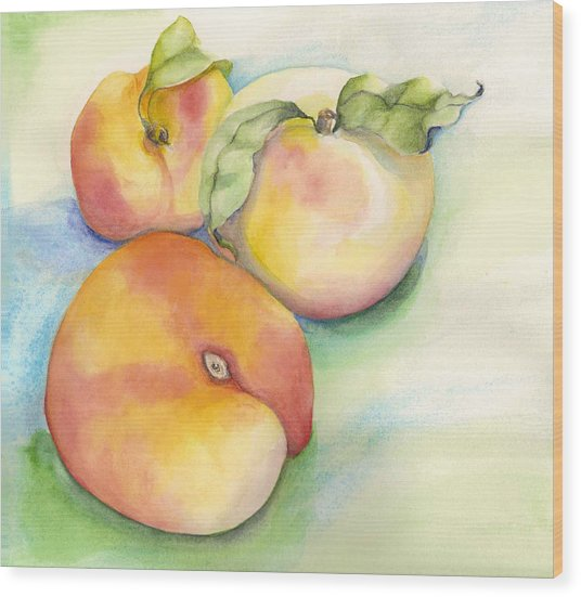 Peach Time Wood Print