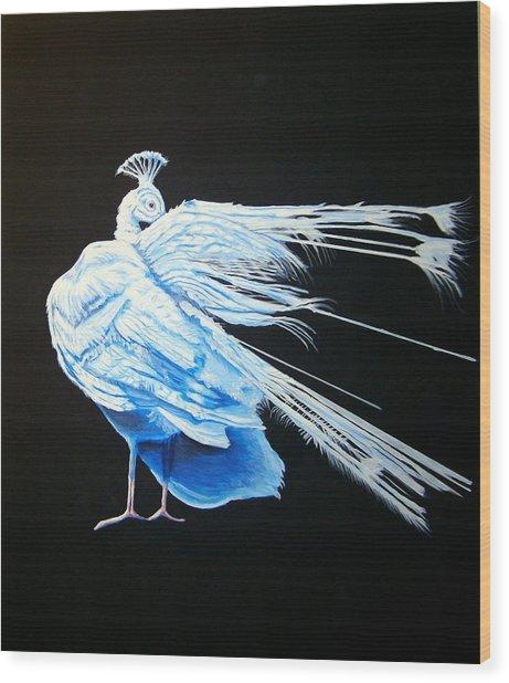 Peacock 2 Wood Print by Chris Benice