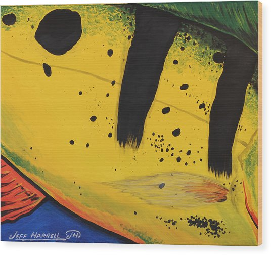 Peacock Bass Wood Print by Jeff Harrell