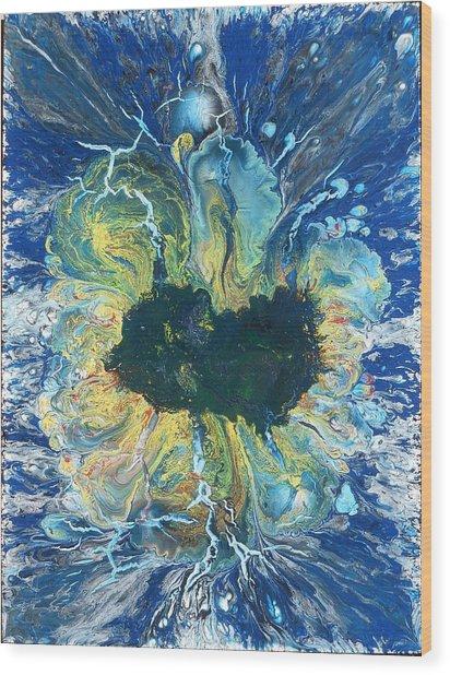 Peacock Nebula Wood Print