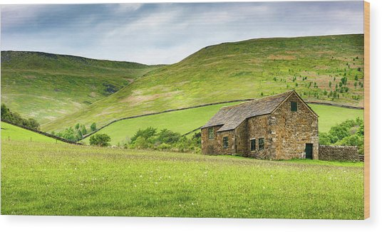 Peak Farm Wood Print