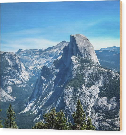 Peak Of Half Dome- Wood Print