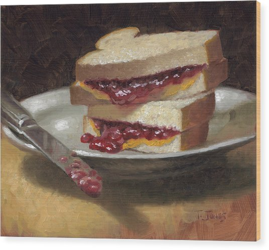 Peanut Butter Jelly Time Wood Print