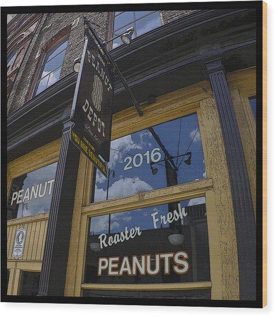 Peanut Depot Poster Wood Print