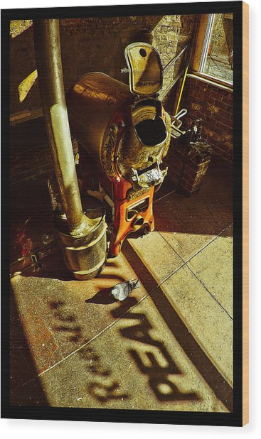 Peanut Roaster Poster Wood Print
