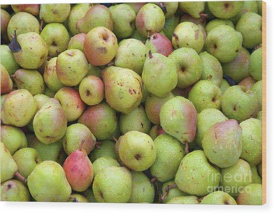 Pear Harvest Wood Print