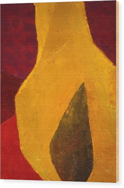 Pear Shaped Wood Print by Chris  Riley