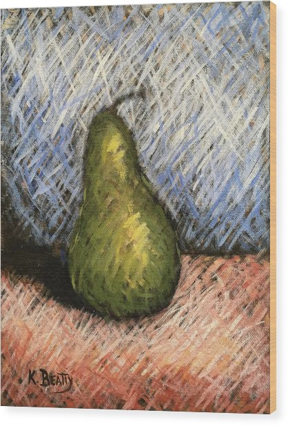 Pear Study 1 Wood Print
