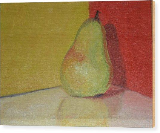 Pear Study Wood Print by Martha Layton Smith