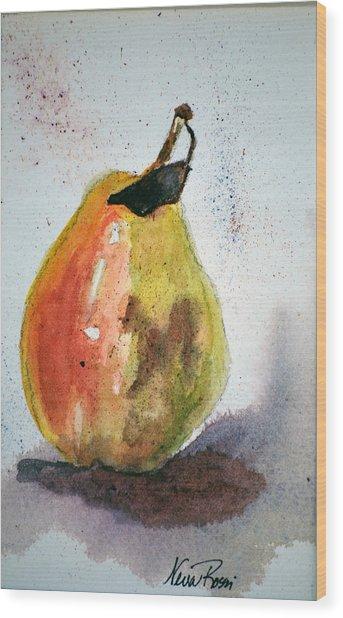 Pear Study Wood Print by Neva Rossi