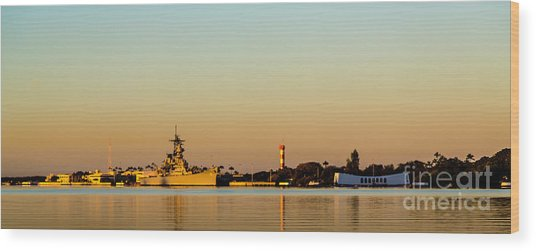 Pearl Harbor Dawn Wood Print