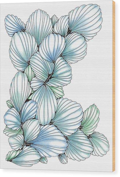 Pearlescent Plume Wood Print