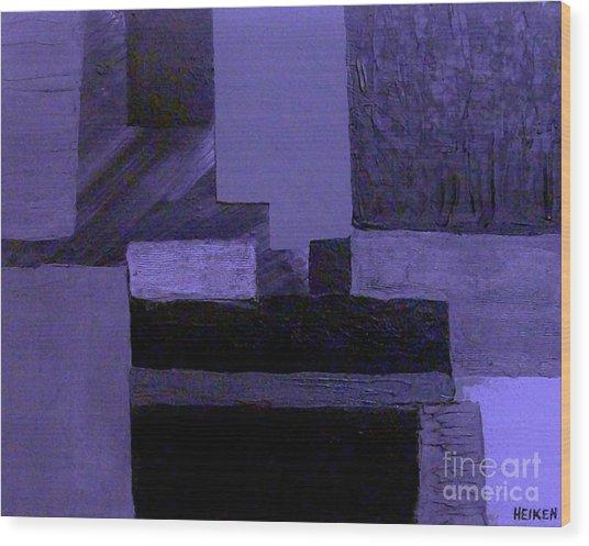 Pearlescent Purple Abstract Wood Print by Marsha Heiken