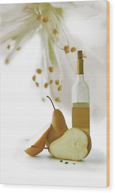 Pears Blossom Wood Print