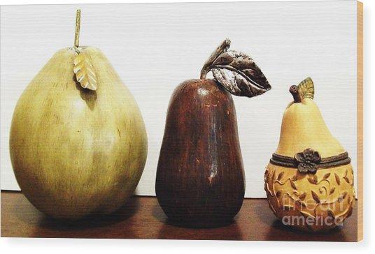 Pears Wood Print by Marsha Heiken