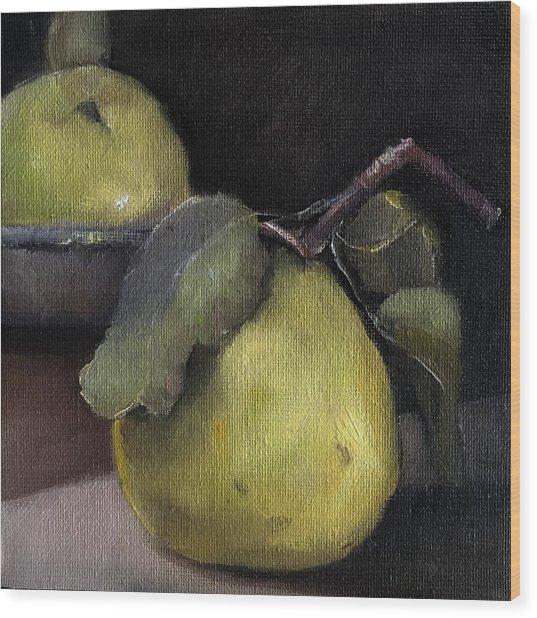 Pears Stilllife Painting Wood Print
