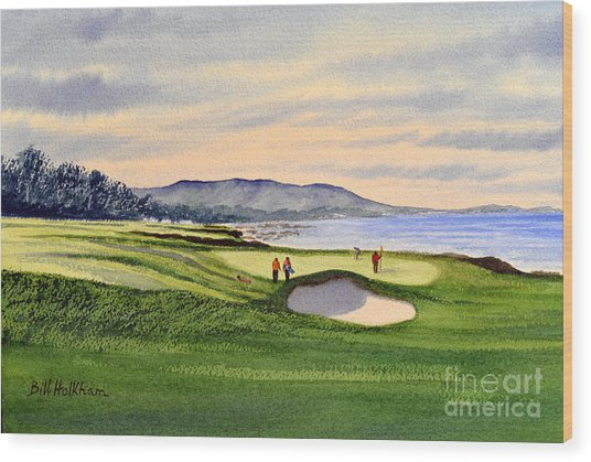 Pebble Beach Golf Course Wood Print