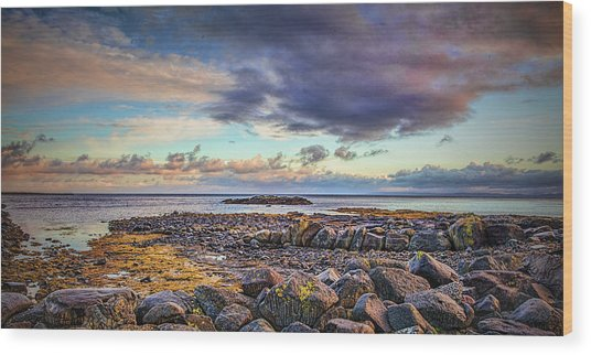 Wood Print featuring the photograph Pebbles And Sky  #h4 by Leif Sohlman