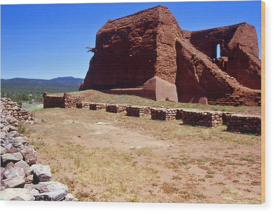 Pecos Mission New Mexico - 2 Wood Print by Randy Muir