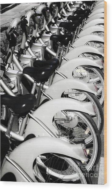 Pedal Power Wood Print